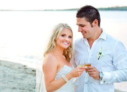 Rebecca & Anthony at  Fiji Beach Resort & Spa by Hilton