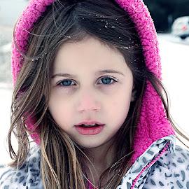 by Malika Fayzullaeva - Babies & Children Children Candids ( child, girl, winter, snow, baby )