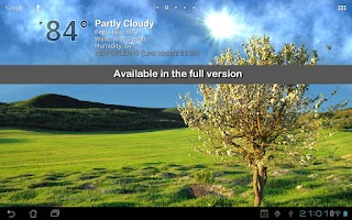 Screenshot of True Weather LWP Free