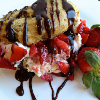 Chocolate Covered Strawberry Profiteroles