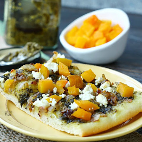 Caramelized Onion Butternut Squash Pesto Pizza