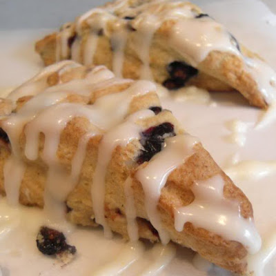 Blueberry Scones with Lemon Drizzle Icing