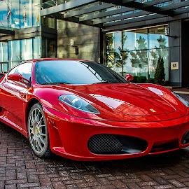 Ferrari by Bob Hynson - Transportation Automobiles ( sportscar, red, automobile, ferrari, auto, hotel,  )