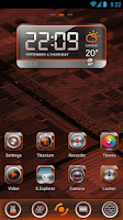 Screenshot of BlackQuartz Clock Widget