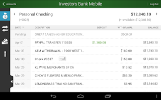 Screenshot of Investors Bank Mobile
