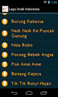 Lagu Anak Anak Indonesia- screenshot thumbnail