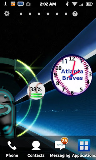 Atlanta Braves Clock Widget