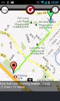Screenshot of Go MTR to find Hong Kong MTR