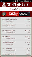 Screenshot of Alabama Football Schedule