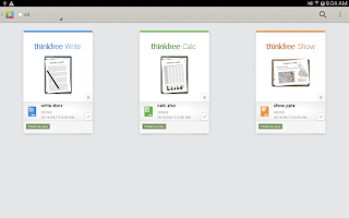 Screenshot of ThinkFree Mobile Pro