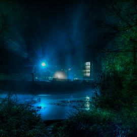 City Park by Night by Siniša Biljan - City,  Street & Park  City Parks