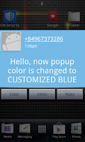 Screenshot of POP UP SMS