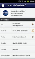 Screenshot of boot Düsseldorf App