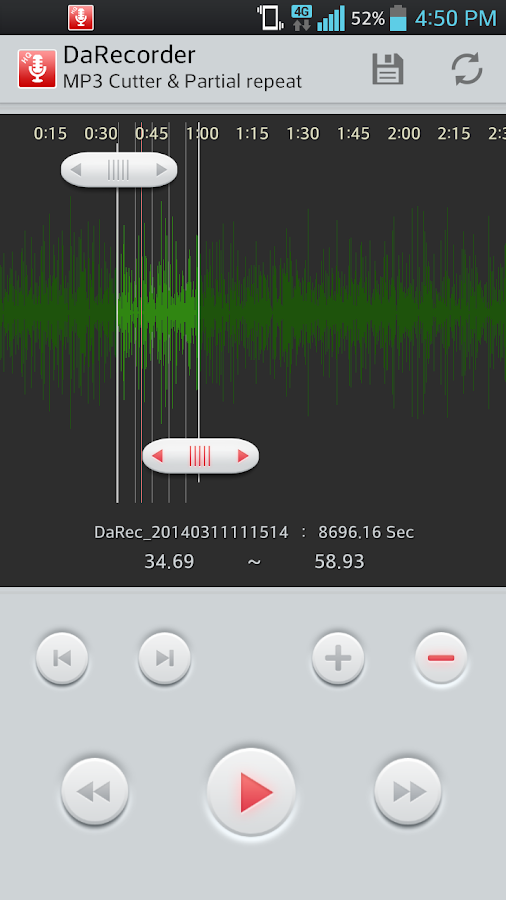 High Quality Voice Recorder Screenshot 0