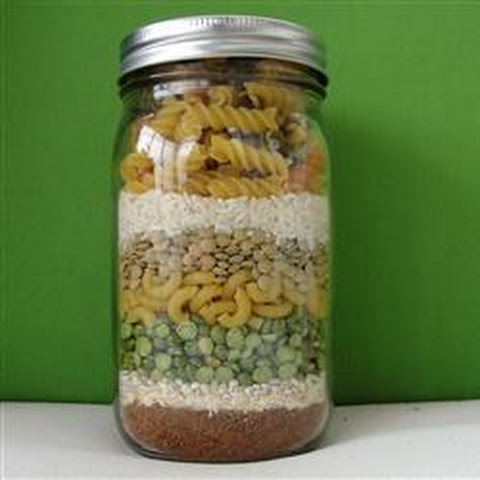 Lentil and Pasta Soup Mix in a Jar