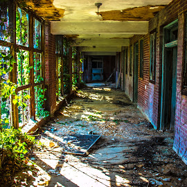 Glensdale Hallway by Pete Daley - Buildings & Architecture Decaying & Abandoned ( urban exploration, urban decay, urban landscapes, abandoned )