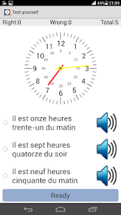 Tell Time in French - screenshot