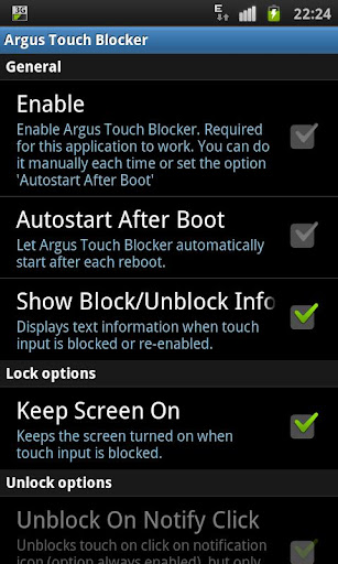 Touch Blocker Disable Touch