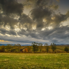In bucovina by Ionel Lupu - Landscapes Cloud Formations ( mazanaesti, sunset, cloud, romania, bucovina )