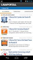 Screenshot of Ligaportal Fußball Live-Ticker