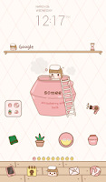 Screenshot of strawberry bath dodol theme