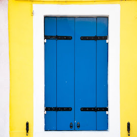 Dominant Blue by Marwa Ibrahim - Buildings & Architecture Other Exteriors ( window, blue, colors, burano, yellow )