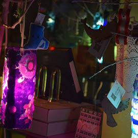 Craftland. Providence, RI. by Joshua Brown - City,  Street & Park  Markets & Shops ( festive, green, colors, mood, christmas, holiday, lights, hanukkah, red, lighting, kwanzaa, blue, tis the season, artifical, celebrate, black, mood factory )