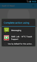 Screenshot of SMS Leb - MTC Touch Support