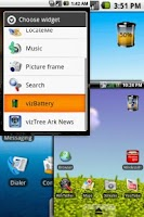 Screenshot of vizBattery Widget