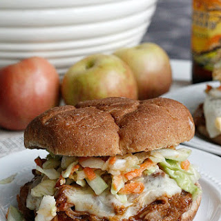 BBQ Apple Pulled Pork Sandwiches