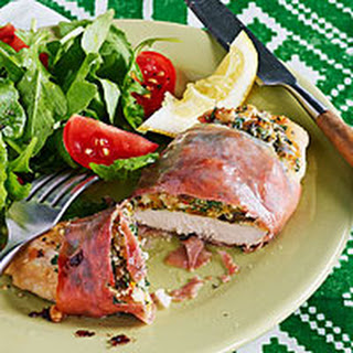 Prosciutto-Wrapped Chicken Cutlets with Sweet & Salty Stuffing