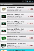 Screenshot of Bier Aanbieding