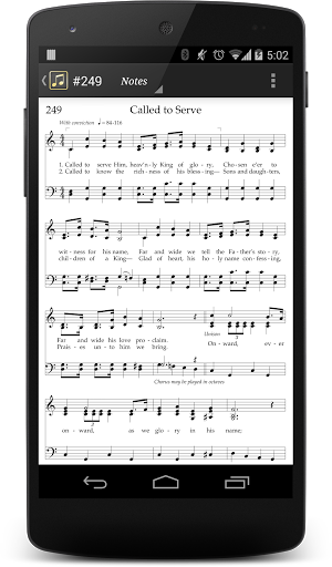 LDS Hymns with Notes Screenshot