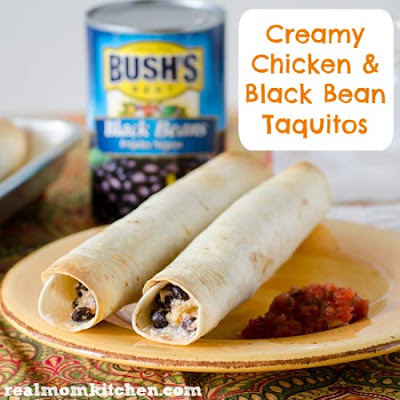 Creamy Chicken and Black Bean Taquitos