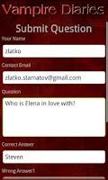 Screenshot of Quiz: Vampire Diaries