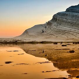 Scala dei turchi by Diego Scaglione - Landscapes Beaches ( mountain, blue, seascape, yellow, beach,  )