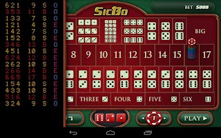 Screenshot of Casino Dice Game: SicBo