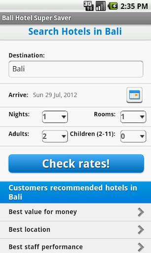 Bali Hotel Super Saver 巴厘岛住宿指引
