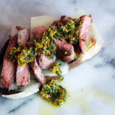 Lamb and Orange-Herb Gremolata Sandwiches