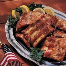 Honey Barbecued Spare Ribs