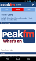 Screenshot of Peak FM Radio