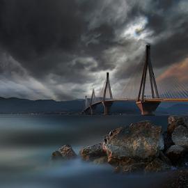 ------------ by Dimitrios Lamprou - Buildings & Architecture Bridges & Suspended Structures ( clouds, rio, patra, sunset, antirio, bridge )