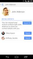 Screenshot of 6degrees Social Phone Contacts