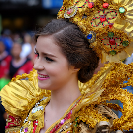 Sinulog Queen 2015 by Ferdinand Ludo - People Portraits of Women ( cebu city, pit sneyor, jan 2015, one of the sinulog queen candidates for 2015 )