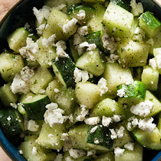 Melon and Cucumber Salad with Feta, Black Pepper, and Mint Recipe