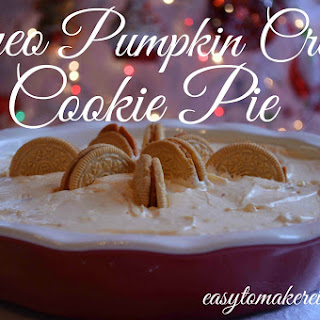 Oreo Pumpkin Creme Cookie Pie