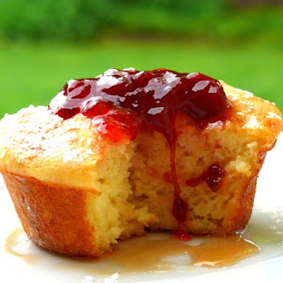 Pancake Souffle Muffins with Spiced Strawberry Pinot Jam