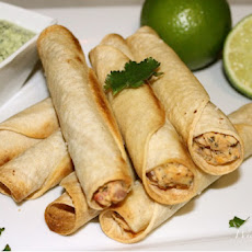 Lightened Up Baked Chicken Taquitos