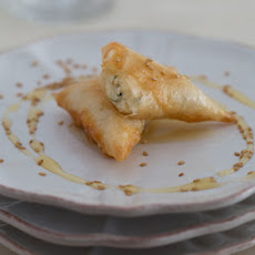 Phyllo Triangles Stuffed with Fresh Cheese (briouats bil jben)