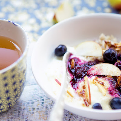 Bircher Muesli With Apple And Blueberries